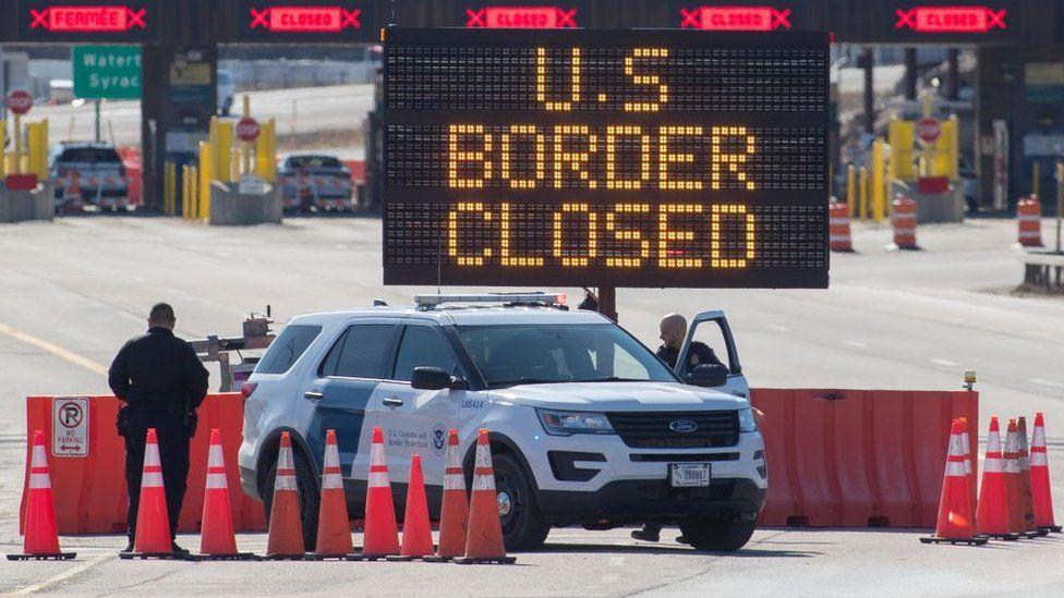 biên giới mỹ canada