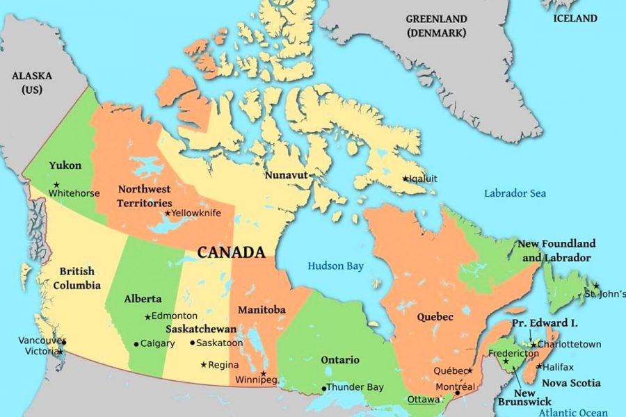 bản đồ canada