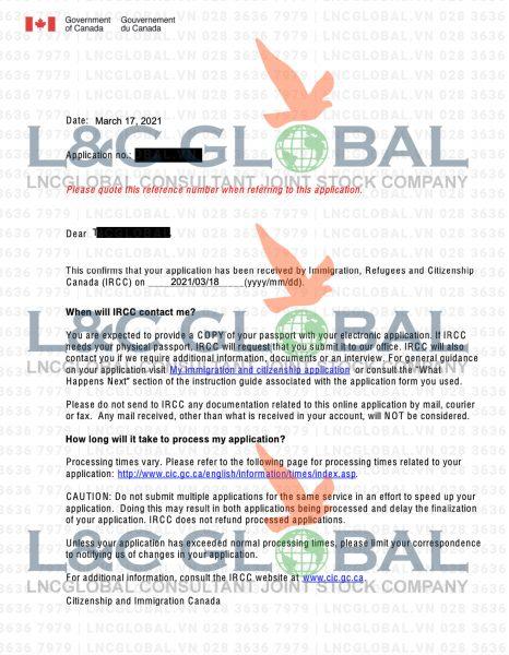 Submission Letter lao động định cư Canada