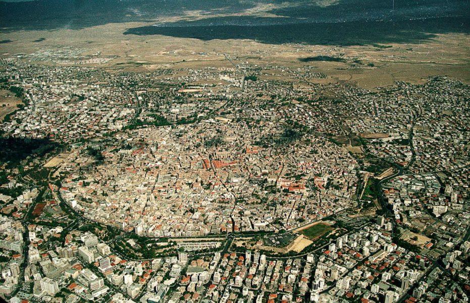 Thành phố Nicosia nhìn từ trên cao