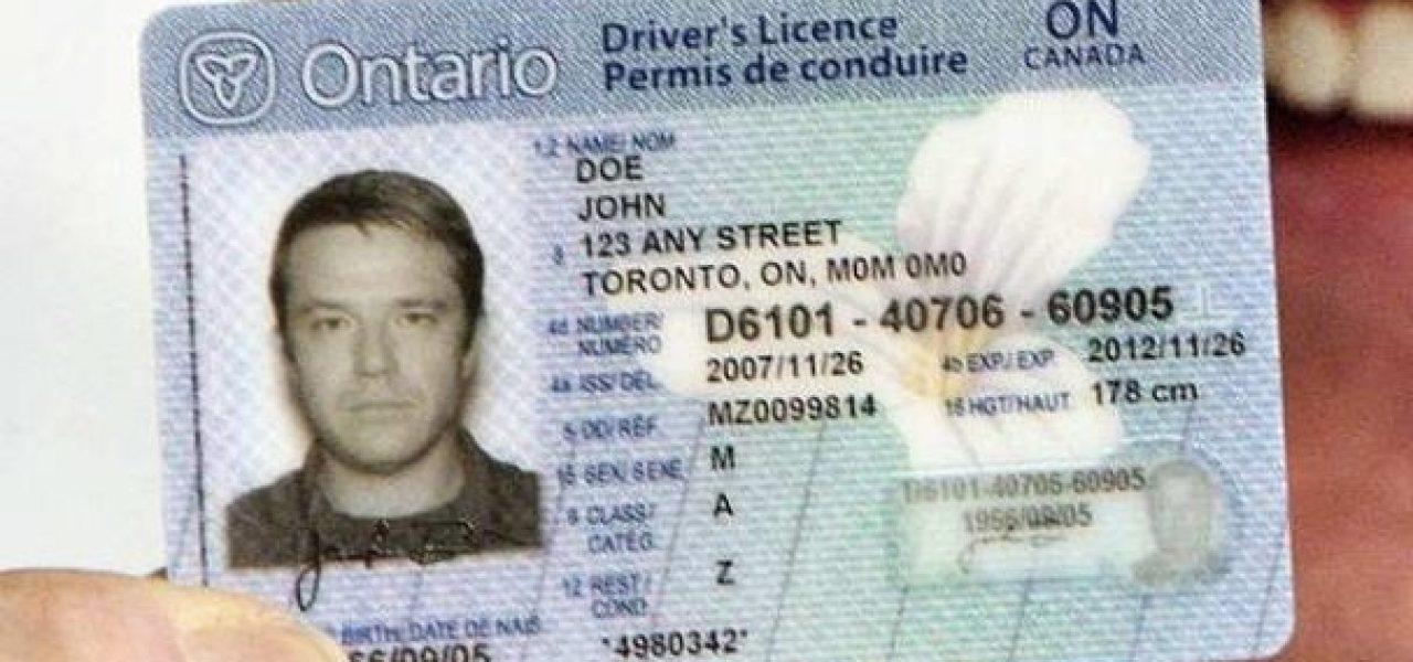 giấy phép lái xe tại canada